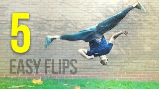 5 EASY FLIPS Anỳone can Learn on Grass!