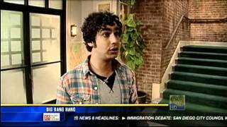 2010 May 3th - Interview backstage - The Big Bang Theory - California News KFMB TV