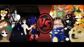 dj reacts to mlg vs creepypasta total war sanic vs sonic exe 3 cartoon fight club episode 111