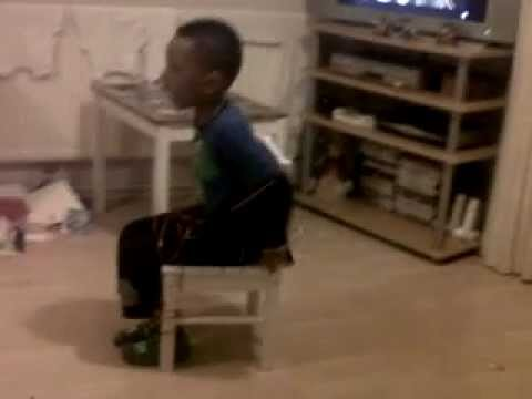 funny kid tied to a chair - YouTube