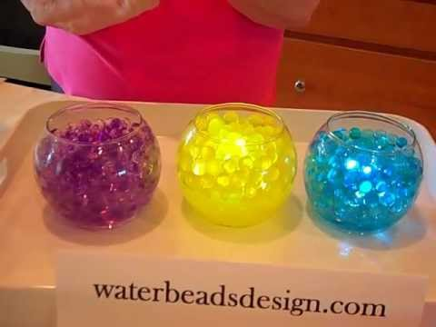Diy Wedding Centerpieces With Water Beads Youtube