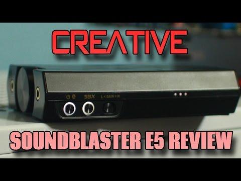 Creative SoundBlaster E5 FULL Review - USB DAC/AMP/ADC Combo