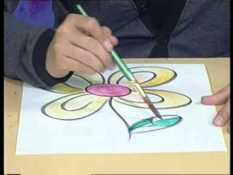 ศิลปะกับพี่อาร์ม-ระบายสีดอกไม้