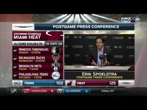 Erik Spoelstra -- Miami Heat vs. Philadelphia 76ers 02/04/2017