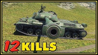 WZ-111 5A - 12 Kills - 1 VS 4 - World of Tanks Gameplay