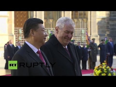 LIVE: Xi Jinping attends welcome ceremony at Prague Castle