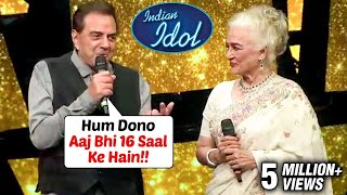 Dharmendra Gets EMOTIONAL Sharing Stage With Asha Parekh On Indian Idol 11