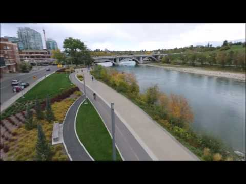 Drone Speed Test on Calgary Waterfront