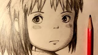 ASMR | Pencil Drawing 33 | Chihiro (Request)