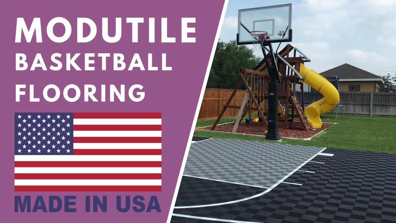 Outdoor basketball court youtube Cost to build basketball court