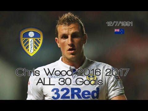 Chris Wood ● ALL 30 Goals 2016-2017 │ Leeds United