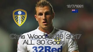 Chris Wood ● ALL 30 Goals 2016-2017 │ Leeds United