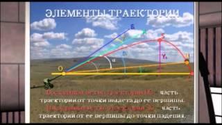 Видеолекция Движение снаряда в безвоздушном пространстве и в воздухе