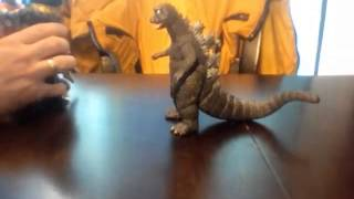 Action Figure Tribute to: Godzilla vs  Megalon.  With Gigan and Jet Jaguar