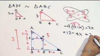 Razón de áreas entre un cuadrado inscrito en un triángulo rectángulo - Parte 1/2