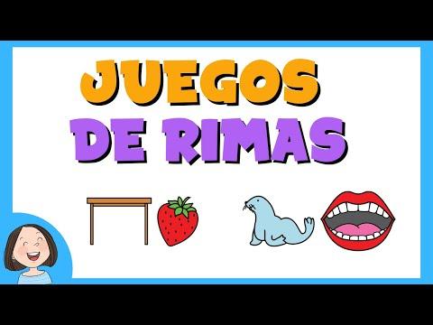 Juegos de rimas para niños | Conciencia fonológica.