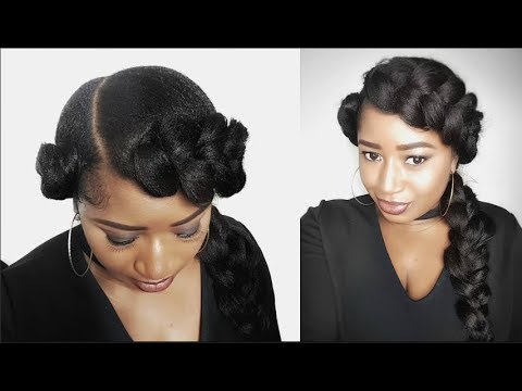 TWO QUICK AND EASY GODDESS BUTTERFLY BRAID  NATURAL HAIR PROTECTIVE STYLE  YouTube