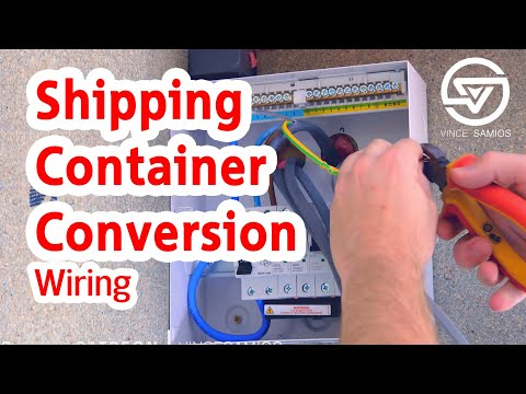 Wiring & Electrics – Shipping Container Home Office – Container Conversion