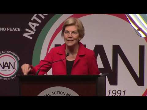 Elizabeth Warren speaks at the 2019 National Action Network Convention