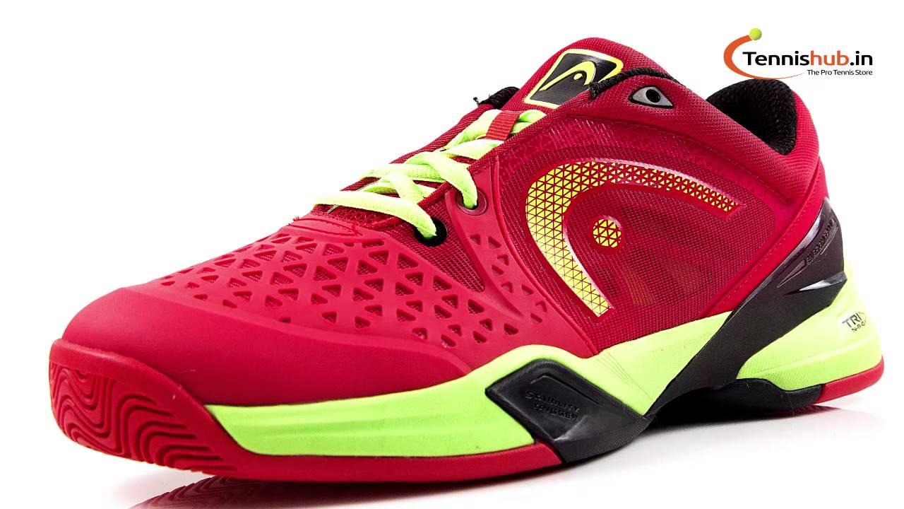 Head Revolt Pro Red-Raven Men's Tennis Shoes - YouTube