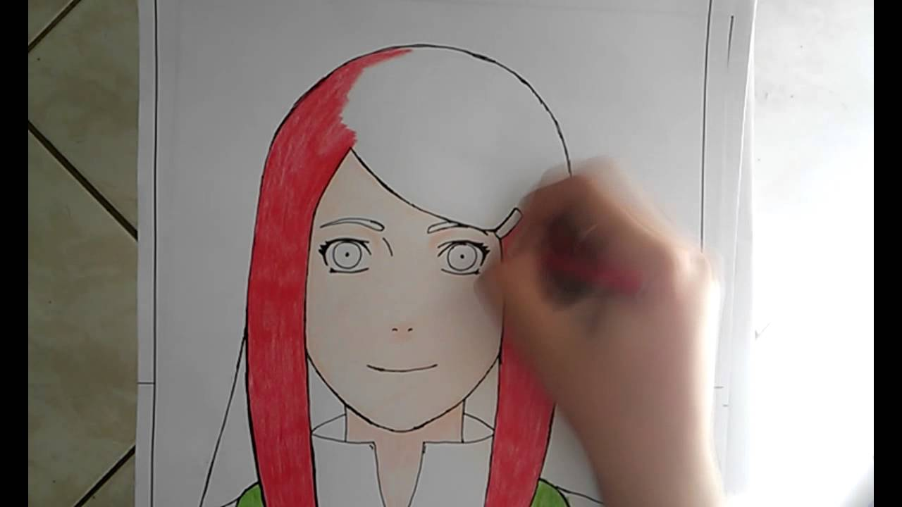 19. SPEED DRAWING PAINTING kushina (naruto). - YouTube