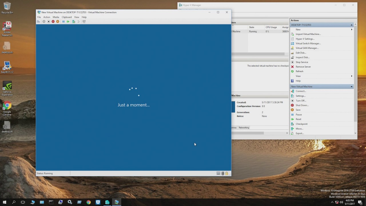 {63} installing windows 10 on samsung 960 with hyper-v and boot with EFI  shell