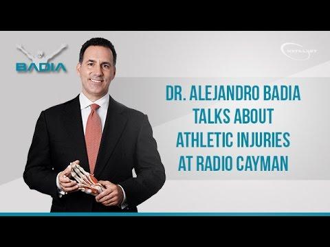 Dr Alejandro Badia talks about Athletic Injuries at Radio Cayman