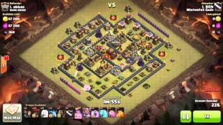 Clash of Clans - Town Hall 10 3-star, Queen Walk, LavaLoon - War 125 vs Iran Hero - BEN vs #1