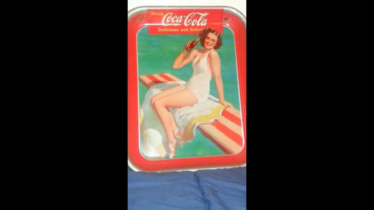 Vintage Coca Cola Tray Tips