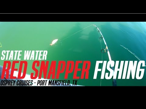 State Water Offshore Red Snapper Fishing - Port Mansfield, TX (Osprey Cruises)