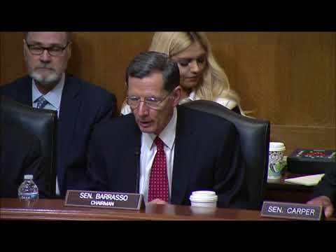 Chairman Barrasso Speaks at Committee Business Meeting