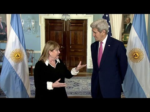 Secretary Kerry Meets with Foreign Minister Malcorra of Argentina