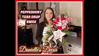 Peppermint Tear Drop Swag DIY
