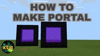How To Make Portal On Minecraft