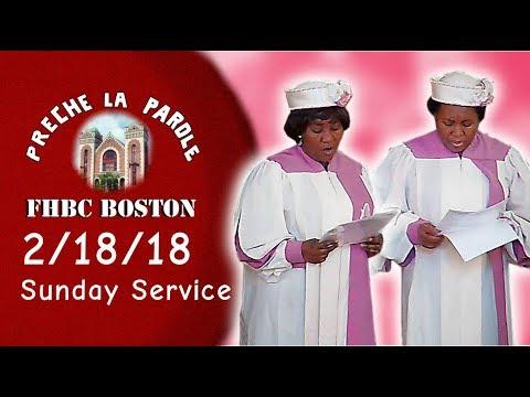 FHBC Boston Sunday Service (February 18, 2018)