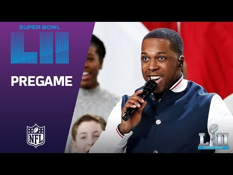 Leslie Odom Jr Sings America the Beautiful  Super Bowl LII NFL Pregame