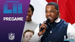 Leslie Odom Jr. Sings America the Beautiful | Super Bowl LII NFL Pregame