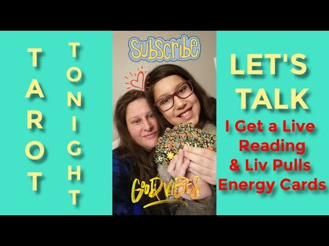 Tarot Tonight - Liv Picks Cards & I get a LIVE READING FROM WyllowWynd The Thrifty Witch