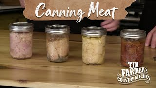 How To Can 4 Different Meats With A Pressure Canner