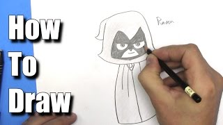 How to Draw Raven from Teen Titans Go! - Step By Step