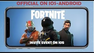 FORTNITE BATTLE ROYALE MOBILE OFFICIAL ON ANDROID-IOS PRE-REGISTRE NOW TO GET A BETA
