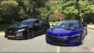The Civic Type R & NSX Both Prove Honda Is Back! But Which Is More Fun?
