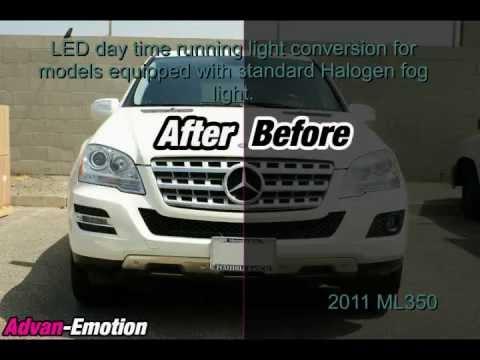 Daytime running light install 2011 Mercedes Benz ML350 ...