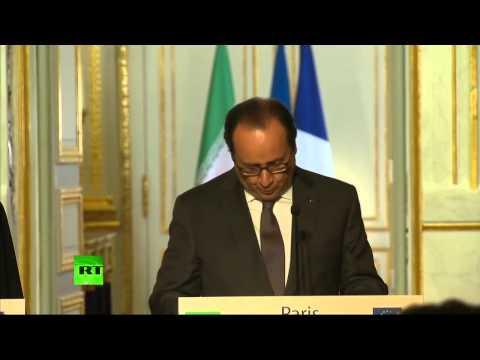 Conférence de presse conjointe de François Hollande et Hassan Rohani