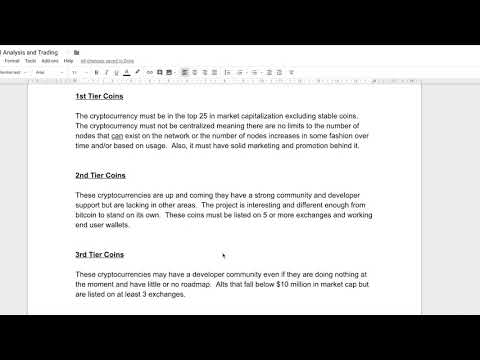 Altcoin Fundamental Analysis Document