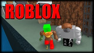 Playing Roblox-Stolen zombie survival