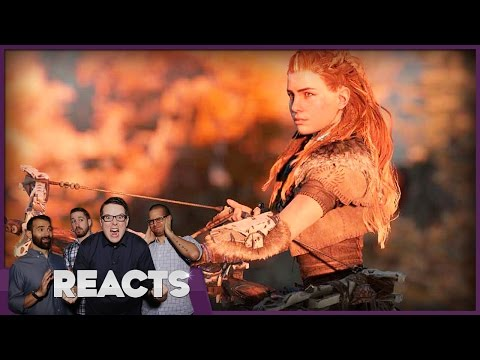 Horizon: Zero Dawn Behind Closed Doors E3 2016 - Kinda Funny Reacts