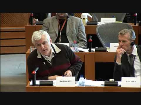 Joe Higgins MEP raises concerns of Canadian workers about trade agreement (17-03-10)