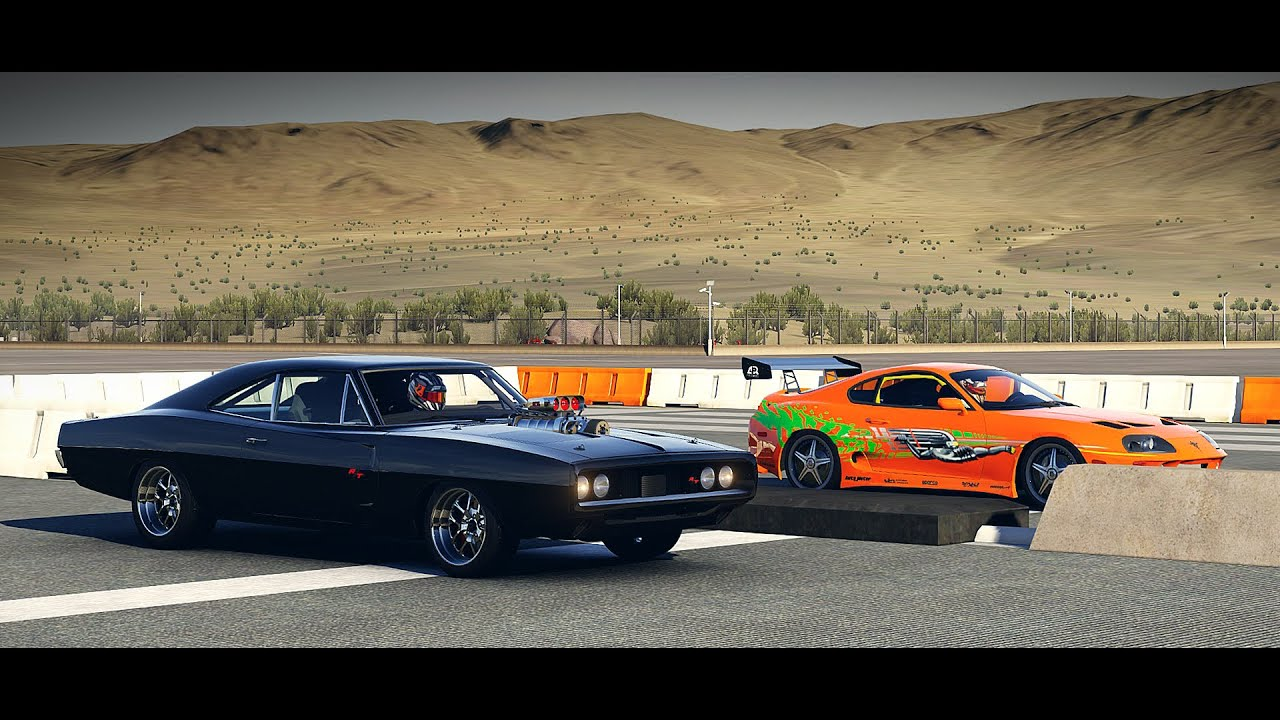 Forza 6: Fast And Furious   Doms 1970 Dodge CHARGER Vs. Brians Toyota Supra  | Drag Race   YouTube