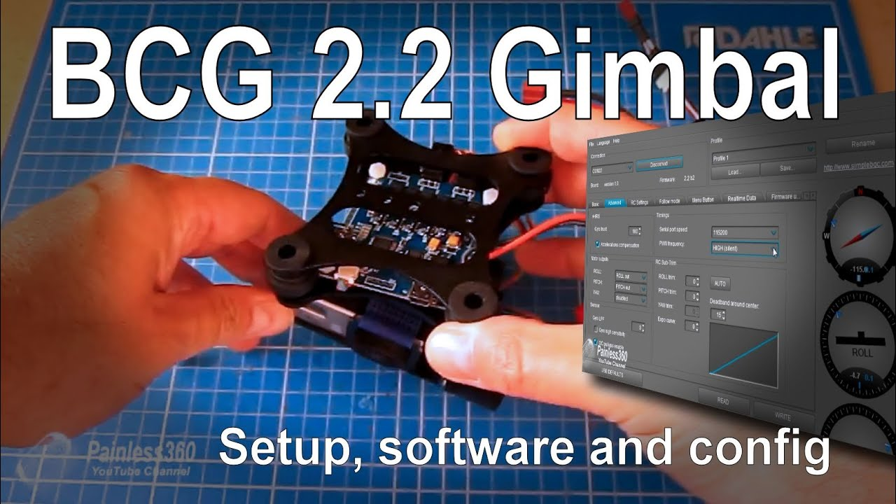 bgc 2 2 2 2b2 gopro camera gimbal software drivers setup and receiver connections  [ 1280 x 720 Pixel ]
